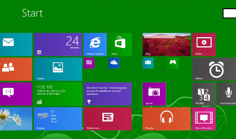 Windows 8.1 Blue Smaller Tiles