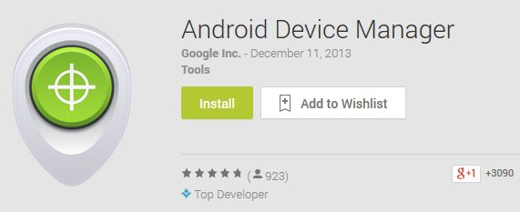 google play android device manager
