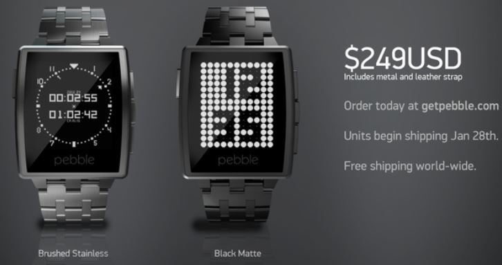 Pebble Metal watches