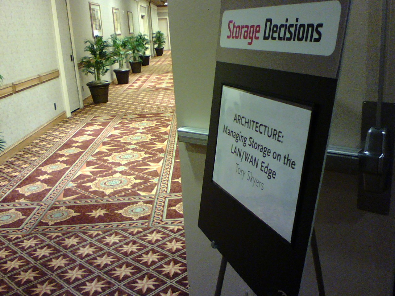 Storage Decisions breakout session area