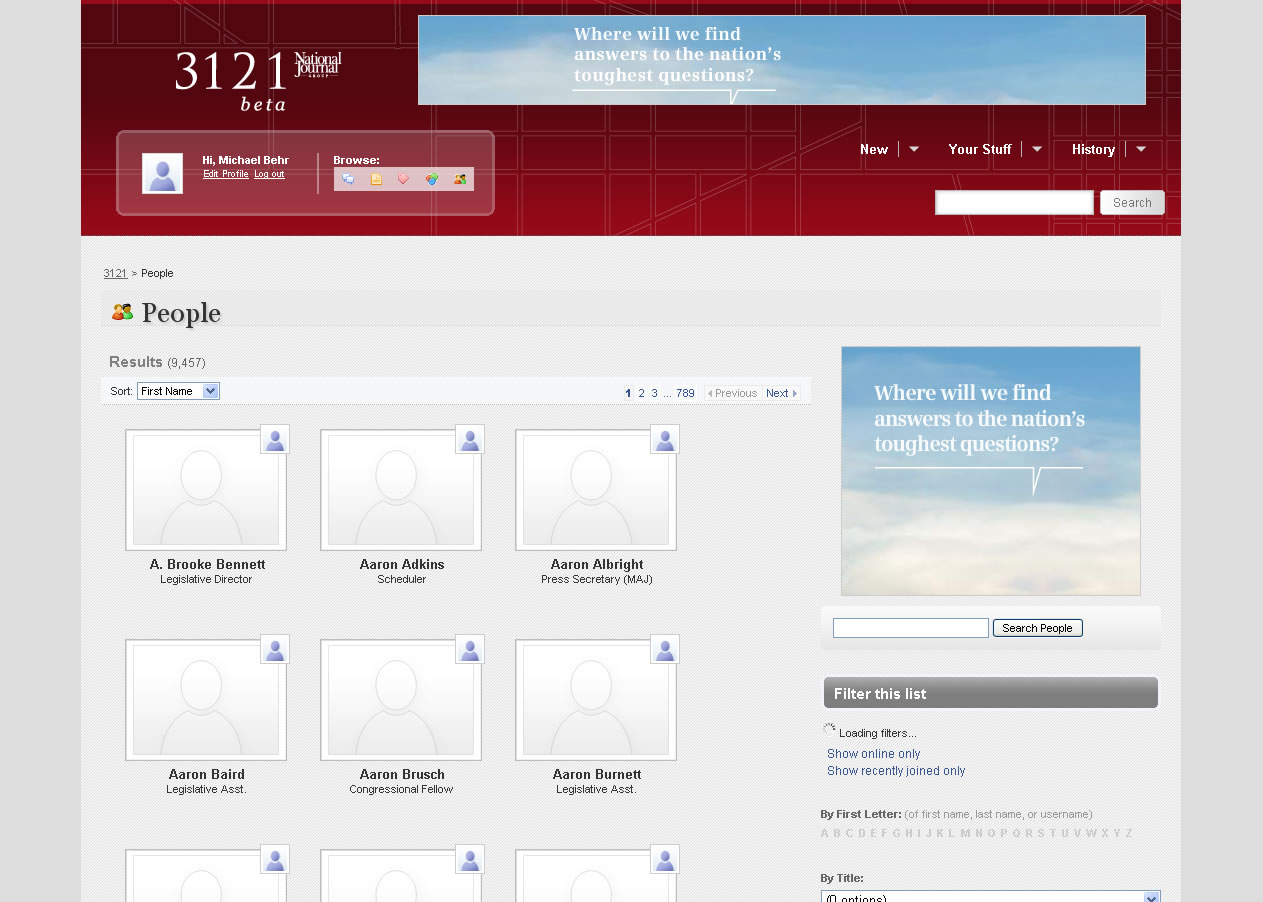 3121 Profiles -- soon to be populated?