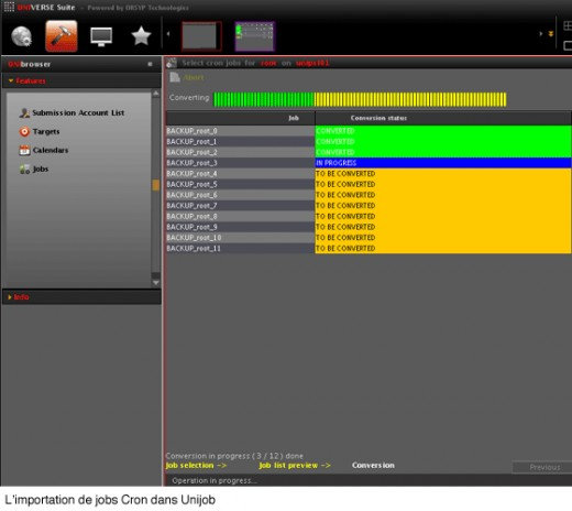 unijob screenshot cron