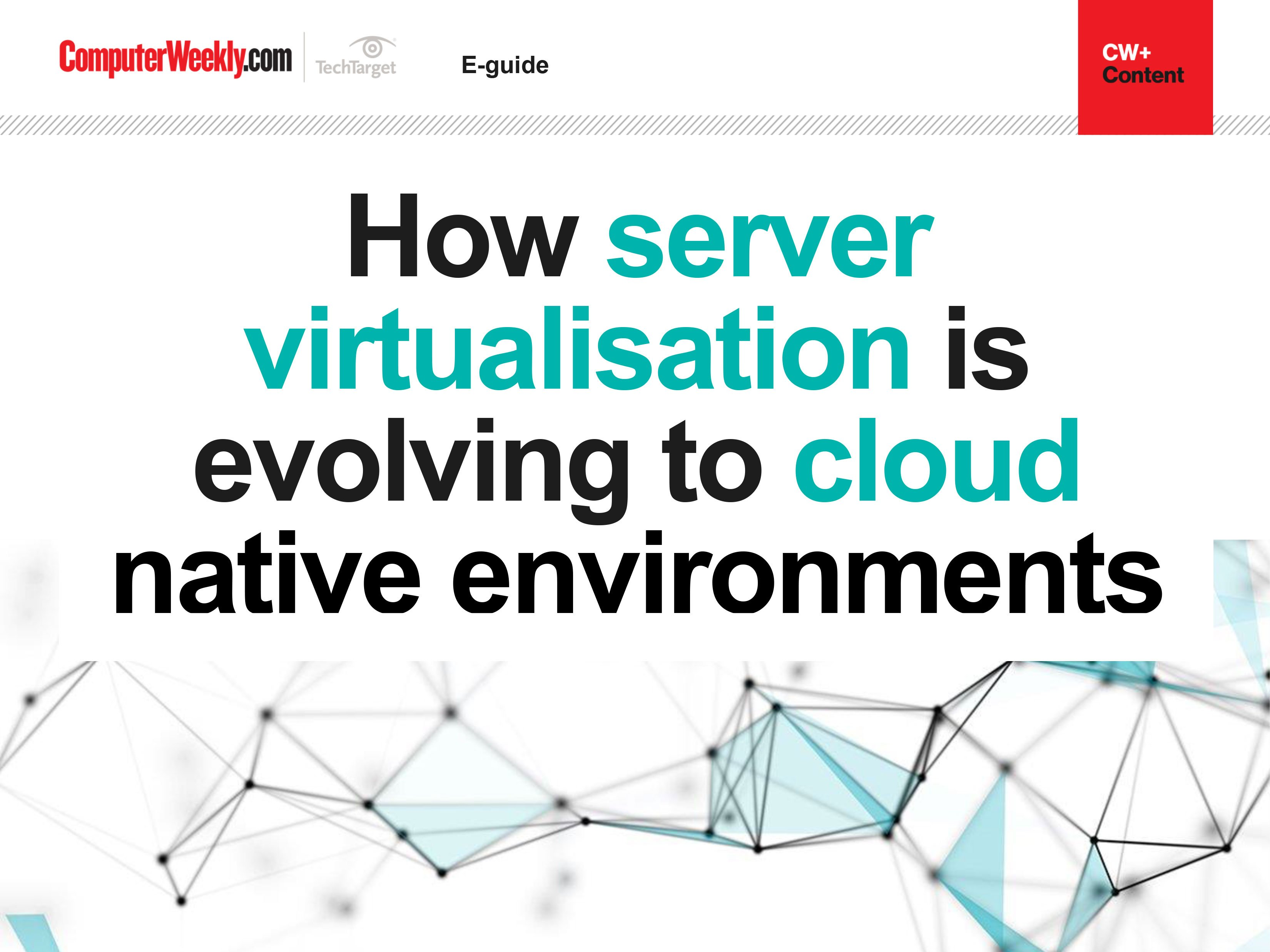 How server virtualisation is evolving to cloud native environments