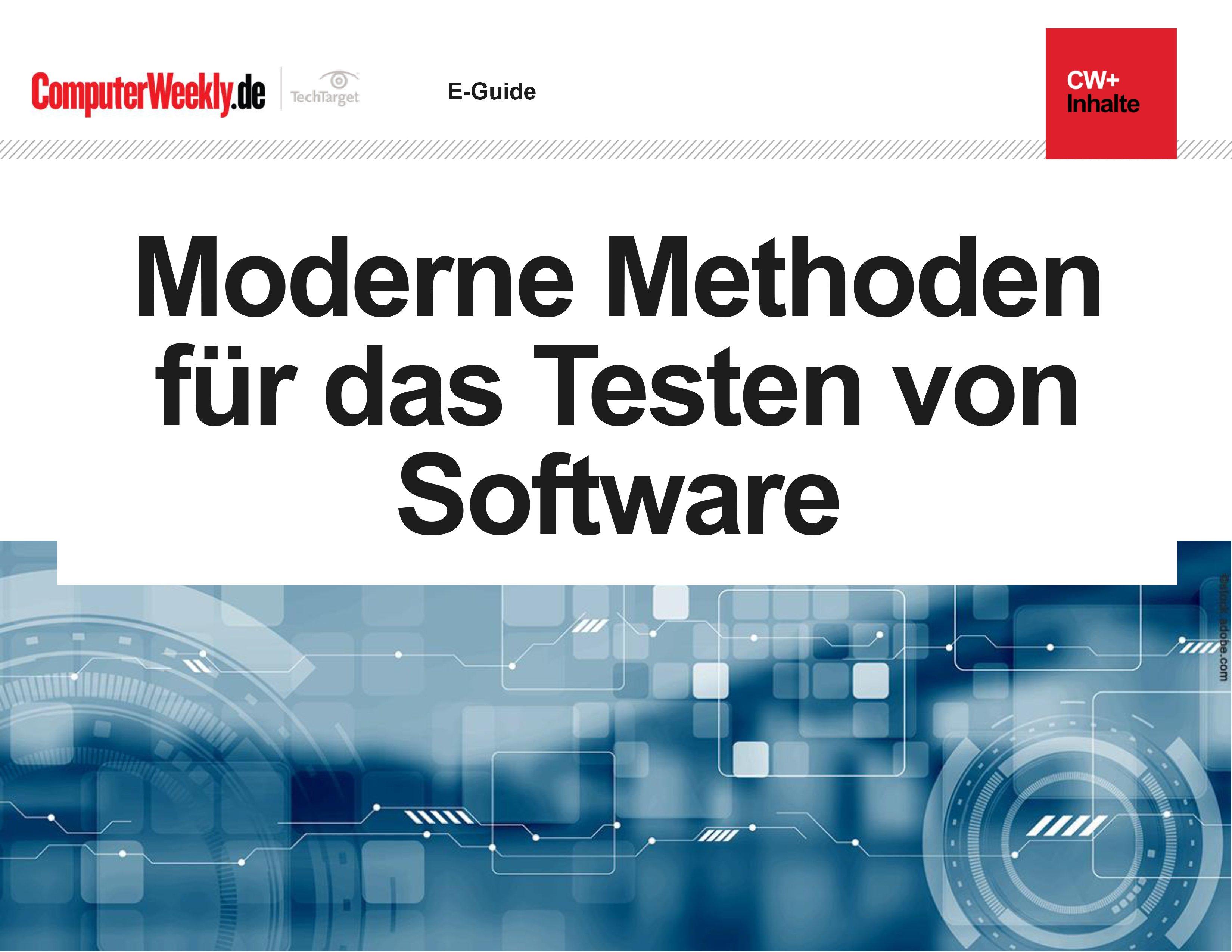 competitive price 7b8d6 92cf3 Moderne Methoden für das Testen von Software