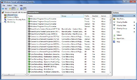 Windows Firewall with Advanced Security snap-in