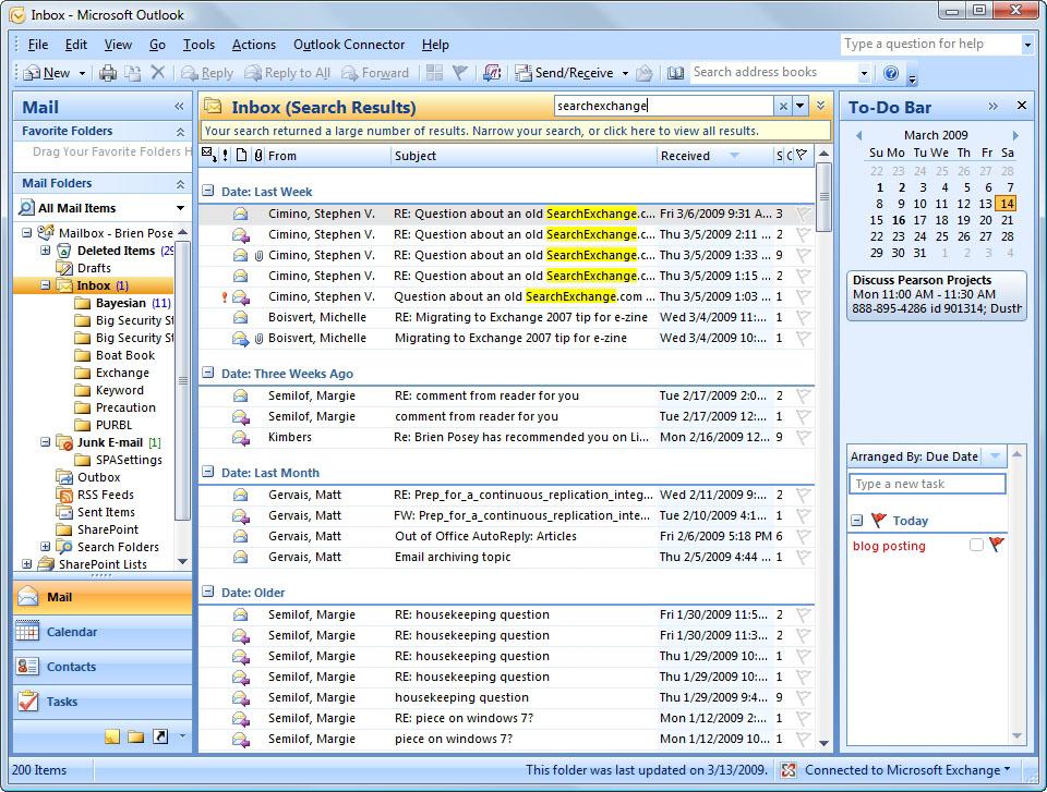 How Windows Desktop Search Works In Microsoft Outlook 2007