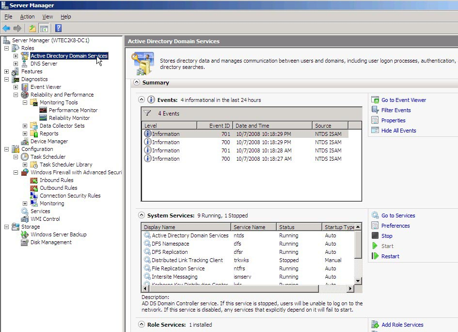 A quick guide to Server Manager for Windows Server 2008