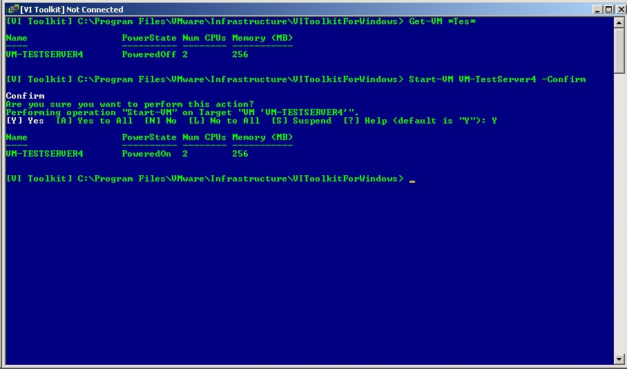 PowerShell example starter scripts for VMware ESX