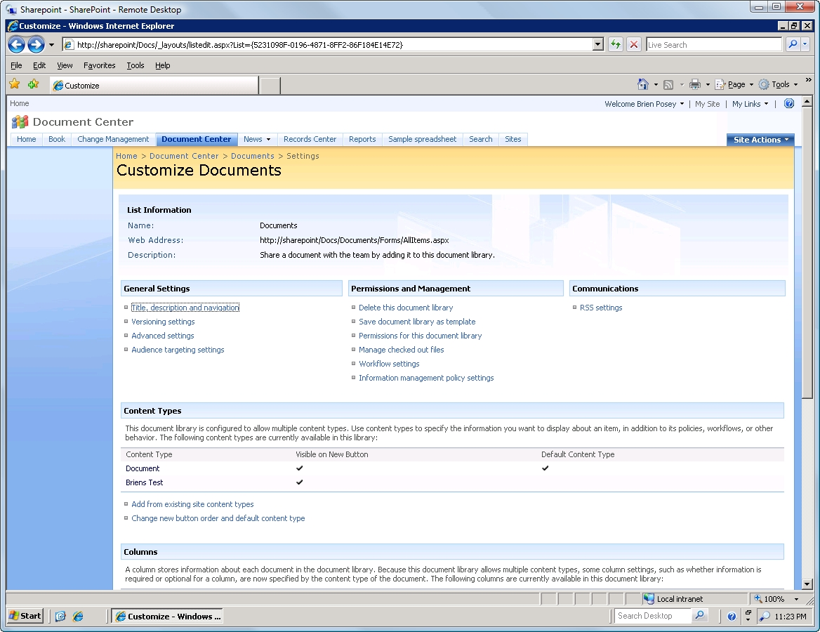 Use templates to control customizing document libraries in MOSS 2007