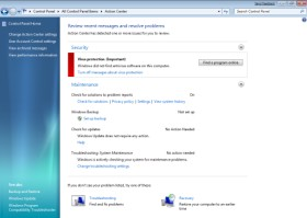 Windows 7 Security Figure A