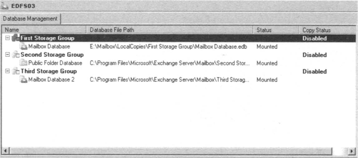 Database file path change.