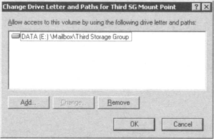 Changing the NTFS volume mount point path.