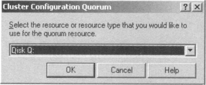 Selecting the Resource Type Used for the Quorum Resource