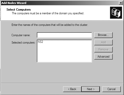 Figure 28: Select computers window.