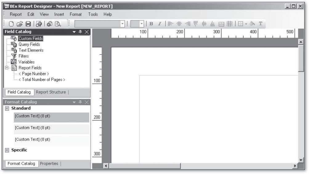 SAP BEx Report Designer