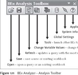 SAP BEx Tools: BEx Analyzer -- Analysis Toolbar