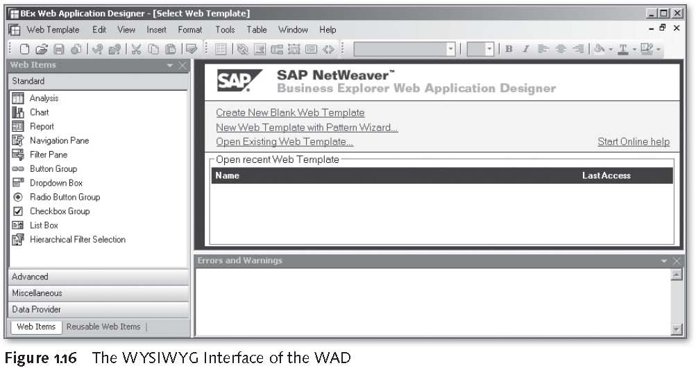 SAP BEx Tools: The WYSIWYG Interface of the WAD