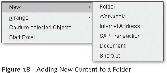SAP BEx Tools: Adding New Content to a Folder