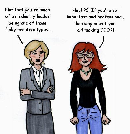 mac vs. PC cartoon