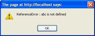 abc is not defined