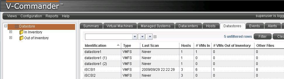iSCSI1 data store scan