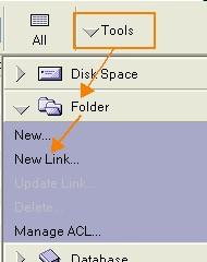 Tools ->Folder