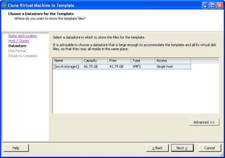 Creating and using VMware ESX Server templates