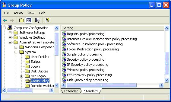 Enforcing Group Policy Object settings