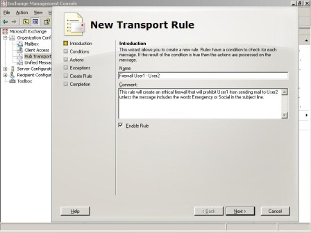 Creating an ethical firewall in Exchange Server 2007