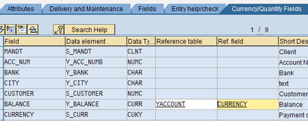 How to create SAP ABAP database tables