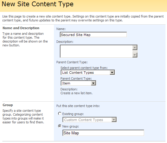 creating SharePoint site map.