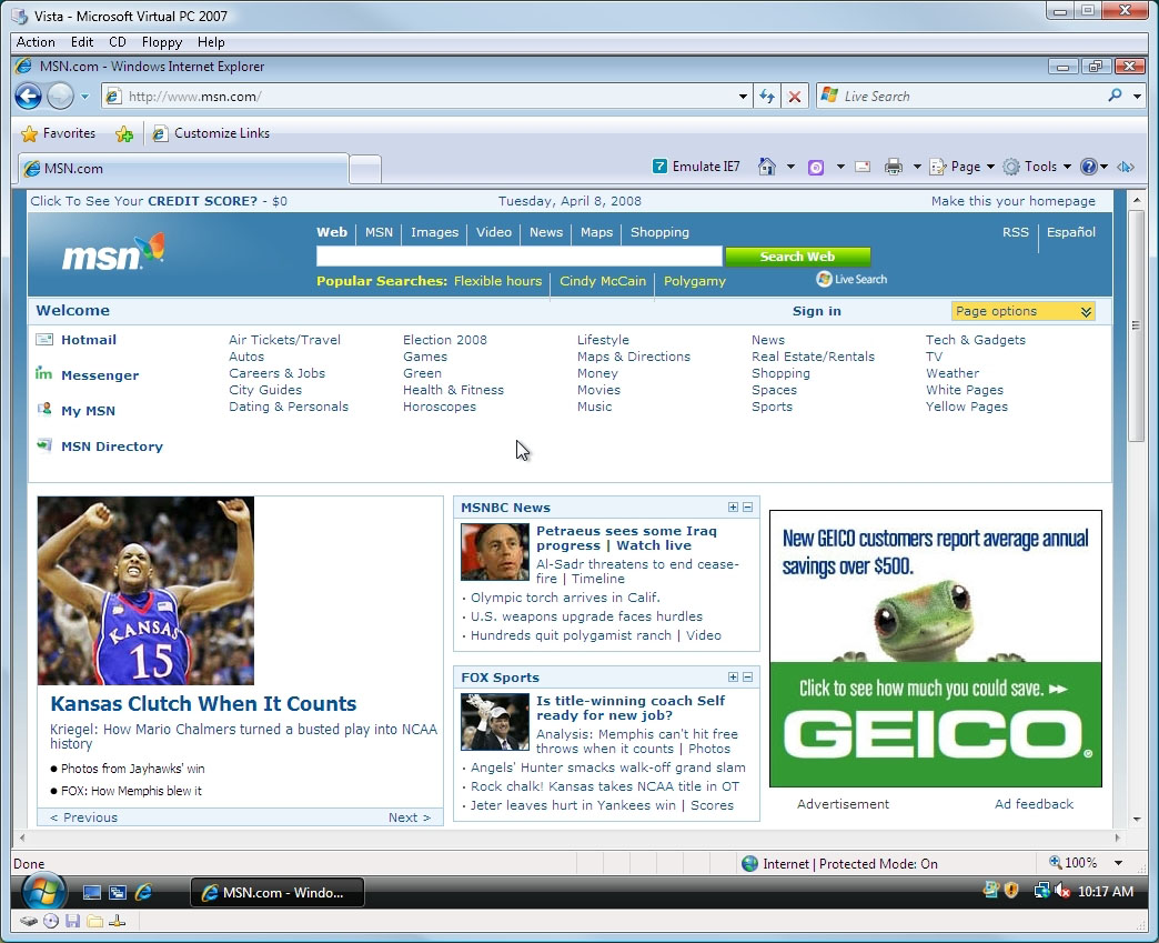 how to search in web pages windows 8