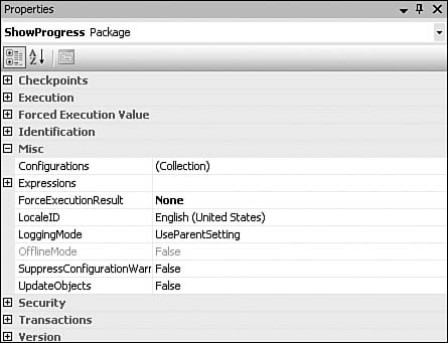 Common SQL Server Integration Services (SSIS) package
