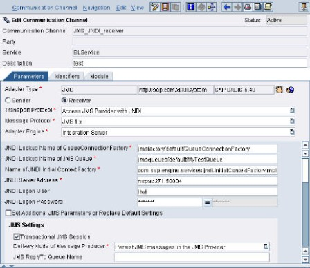 How to use SAP's Web AS J2EE JMS Queue in Exchange Infrastructure