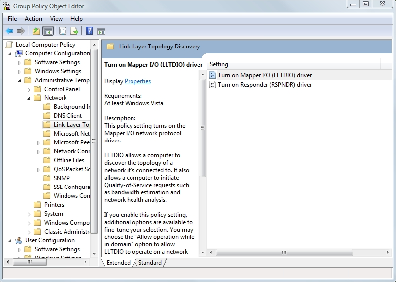Network mapping in Vista for Windows XP