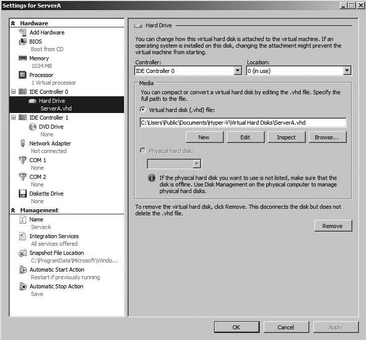Managing and optimizing the Microsoft Hyper-V server