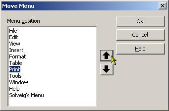 Move menu