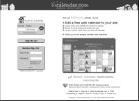 Web page before redesign