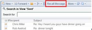 Recall Message