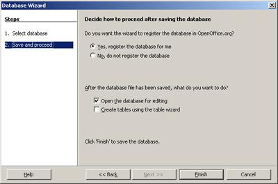 Bringing data into OpenOffice 2 0's database
