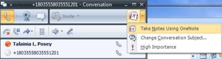 Microsoft Office Communicator notes section