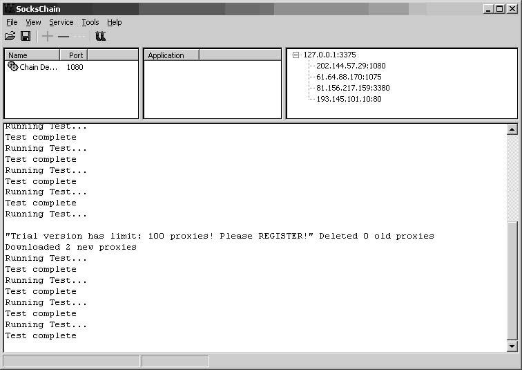 ufasoft proxy chaining