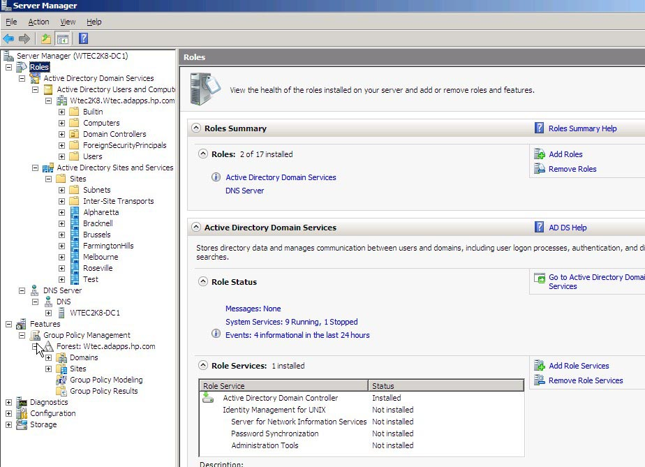 how to start group policy management console server 2008