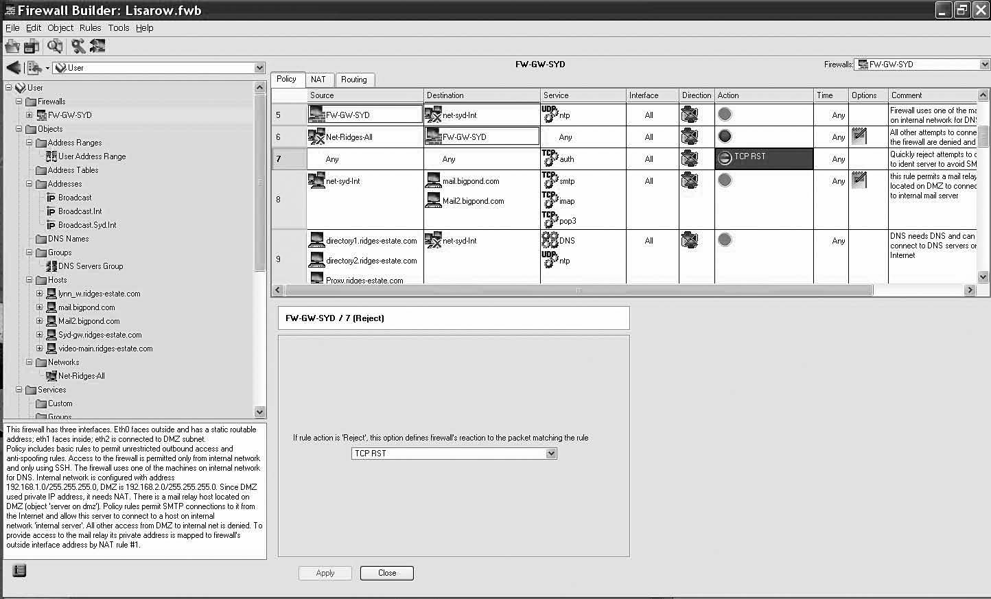 Working with Firewall Builder