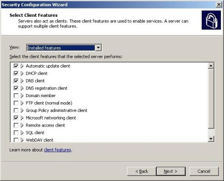 Exchange 2007 Security Configuration Wizard