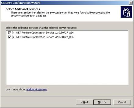 Exchange 2007 Security Configuration Wizard