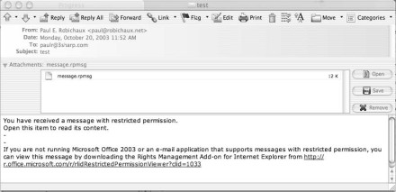 Using Information Rights Management in Microsoft Outlook
