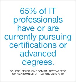 IT professionals pursuing advanced degrees