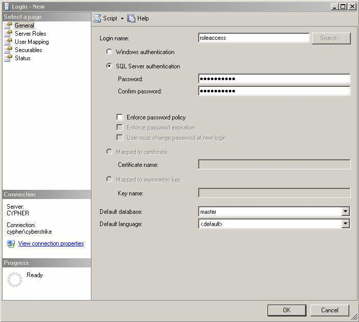 SQL Server security: Controlling access via database roles