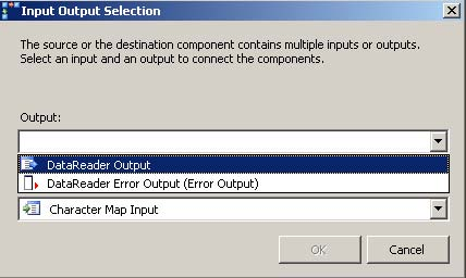 Input Output Selection window